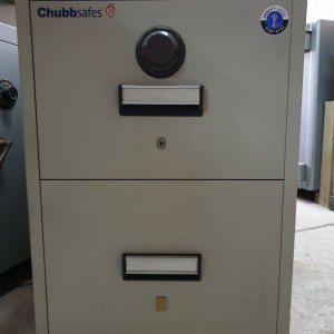 Second Hand CHUBB 2 Draw Filing Cabinet | Abbott Safes